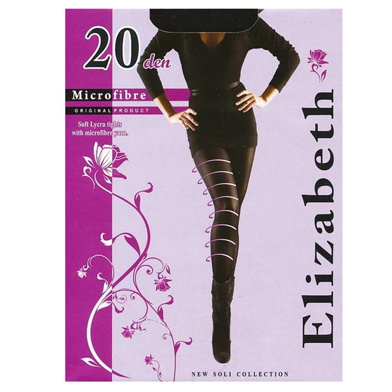 Мягкие недорогие колготки Elizabeth с лайкрой и микрофиброй, без шортиков 20 den 00121-1   5 шт.