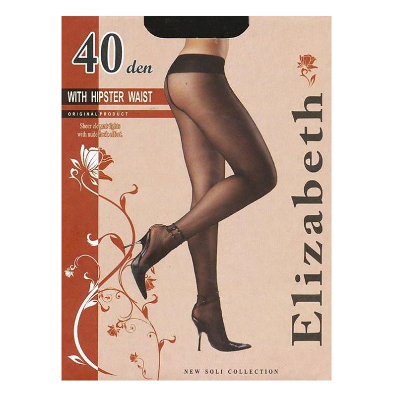 Модные, тонкие и элегантные колготки без шортиков Elizabeth, с заниженной талией 40 den 00118-1 | 5 шт.