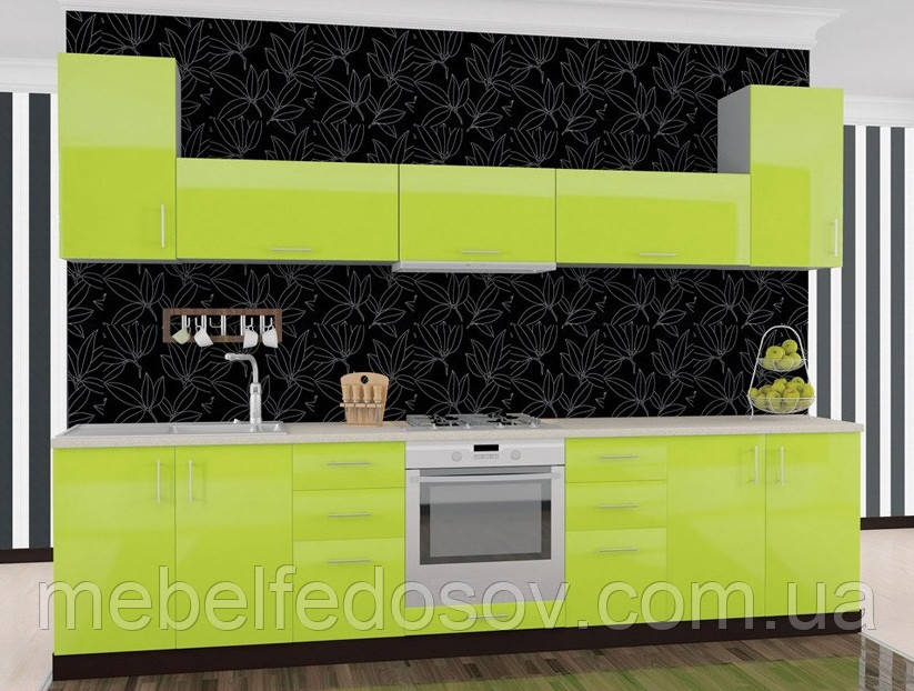 Кухня Hihg Gloss / Хьюго Глосс (Мебель стар) лайм