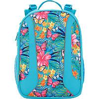 Школьный каркасный рюкзак kite k17-703m-2 tropical flower ортопедическая спинка
