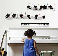 Інтер'єрна декоративна наклейка на стіну Котики / Интерьерная декоративная наклейка на стену Котята (ay7253)