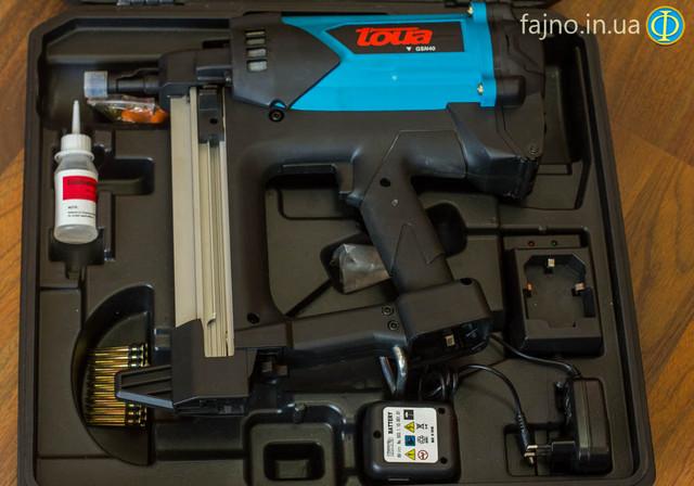 Газовый монтажный пистолет Toua GSN40A (дерево, металл, бетон)