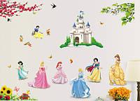 Интерьерная наклейка на стену Принцессы (DF5102)