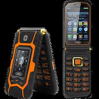 """Land Rover X9 Flip. Батарея 16800 мАч, 2 SIM, сенсорный дисплей 3.5"""". Противоударный телефон-раскладушка!"""