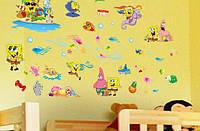 Интерьерная наклейка на стену Губка Боб (DF9909)