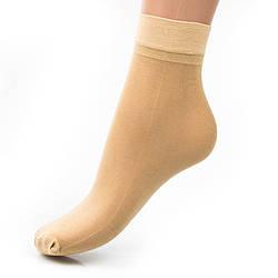 Носочки капроновые с лайкрой 30 den Гладь0031KOL женские носочки оптом дешево Украина (10 ед. в упаковке)