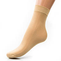 Носочки капроновые с лайкрой и тормозами 30 den024KOL женские носочки оптом дешево Украина (в упаковке 10 ед.)