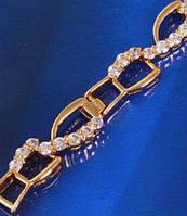 Позолоченный браслет с цирконами (GF287)