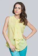 Блуза шифон желтая