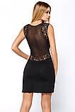Сорочка ночная рубашка женская короткая черная пеньюар Hamana Ultimate, фото 2