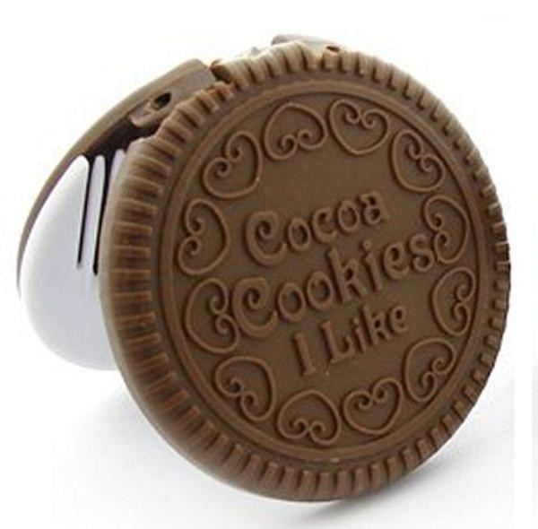 "Дзеркало складне Шоколадне печиво, із гребінцем / Зеркало - шоколадное печенье - Інтернет-магазин ""BIGTORG"" в Тернопольской области"