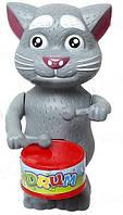 Іграшка Кіт Том заводний із барабаном / Кот Том заводной с барабаном (игрушка Кот Том барабанщик)
