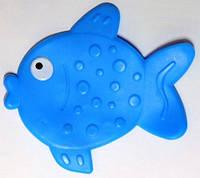 Антискользящий мини коврик для ванной. Рыбка