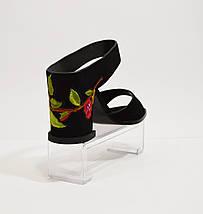 Черные замшевые босоножки Veritas 1610, фото 3