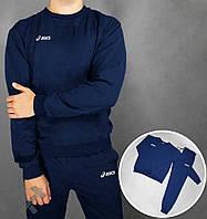 Спортивный костюм Асикс мужской, брендовый костюм Asics трикотажный (на флисе и без) копия