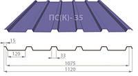Профнастил ПС(К)-35 цинк 0,50мм