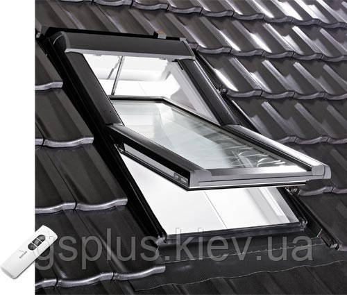Мансардное окно Roto Designo R4/R6 (540mm x 780mm) с ДУ, фото 2