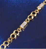 Позолоченный браслет с цирконами (GF291)