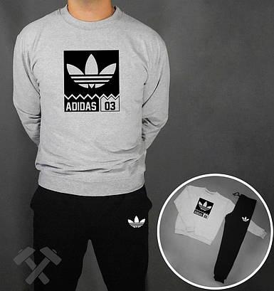 Спортивный костюм Adidas 03 черны серая толстовка