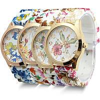 Часы наручные женские GENEVA Голубые цветы