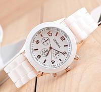 Наручний жіночий годинник Geneva (білий) / Часы наручные женские GENEVA Белые