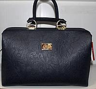 Сумка стильная женская Саквояж Fashion Искусственная кожа Ажурная синяя 17-543-14