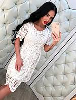 Летнее кружевное женское платье