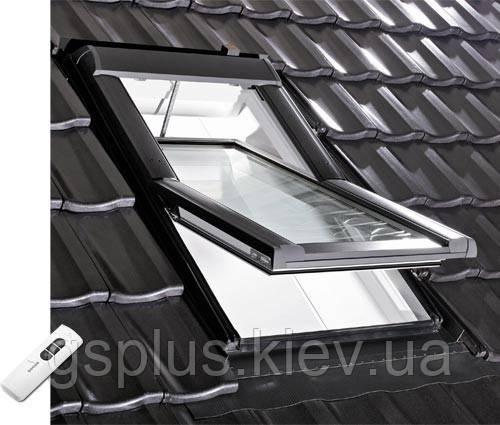 Мансардное окно Roto Designo R4/R6 (1140mm x 1180mm) с ДУ - Торгово-строительная компания «Житлосервис» в Киеве