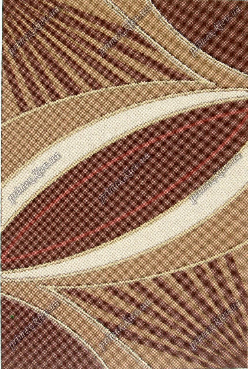 """Акриловый ковер Пангора """"Тропики"""", цвет бежево-коричневый"""