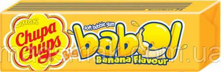 Жевательная резинка Чупа Чупс Big Babol банан 21 г, фото 2