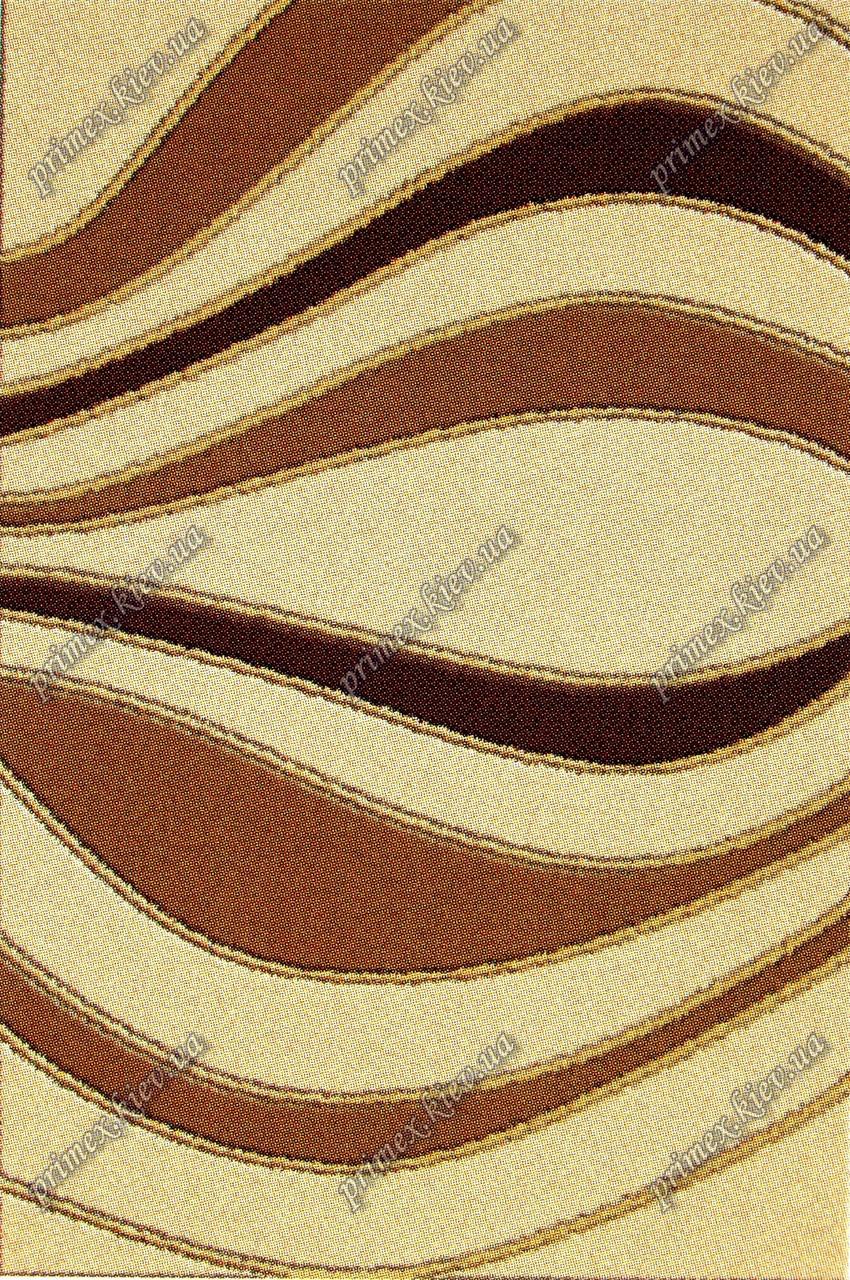 """Акриловый ковер Пангора """"Цунами"""", цвет бежево-коричневый"""