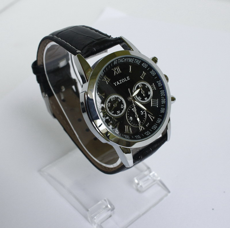 Мужские наручные кварцевые Часы Yazole-317. Черный ремешок. - Valakum в  Херсонской области 90d2ef63975