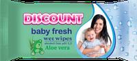 DISCOUNT Влажные салфетки для детей 40 шт. АЛОЭ ВЕРА
