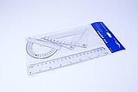 Набор линеек прозрачных пластиковых, 4 шт/набор, №8010