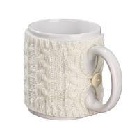 Чашка в чехле Ohaina  в косы 10х10  цвет пломбир