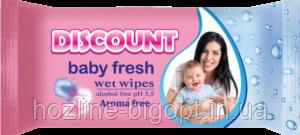 DISCOUNT Влажные салфетки для детей 40 шт. КАЛЕНДУЛА И ВИТАМИН Е
