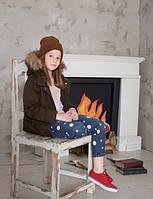 Джинсы брюки на девочек, бойфренды в белые горохи, Glo-story (Глостори), Венгрия, 134-164, GNK-3412