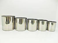 Набор из 5 форм для пасхальных куличей, металл