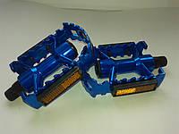 """Педаль 26"""" алюминиевая крашеная, синяя"""