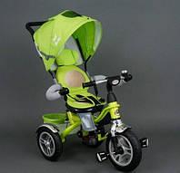 Детский трехколесный велосипед 5688 Best Trike надувные колеса, поворот сиденья, салатовый