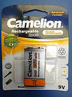 Аккумулятор Крона Camelion 9V 250mAh PP3 Ni-MH RECHARGEABLE New Formula