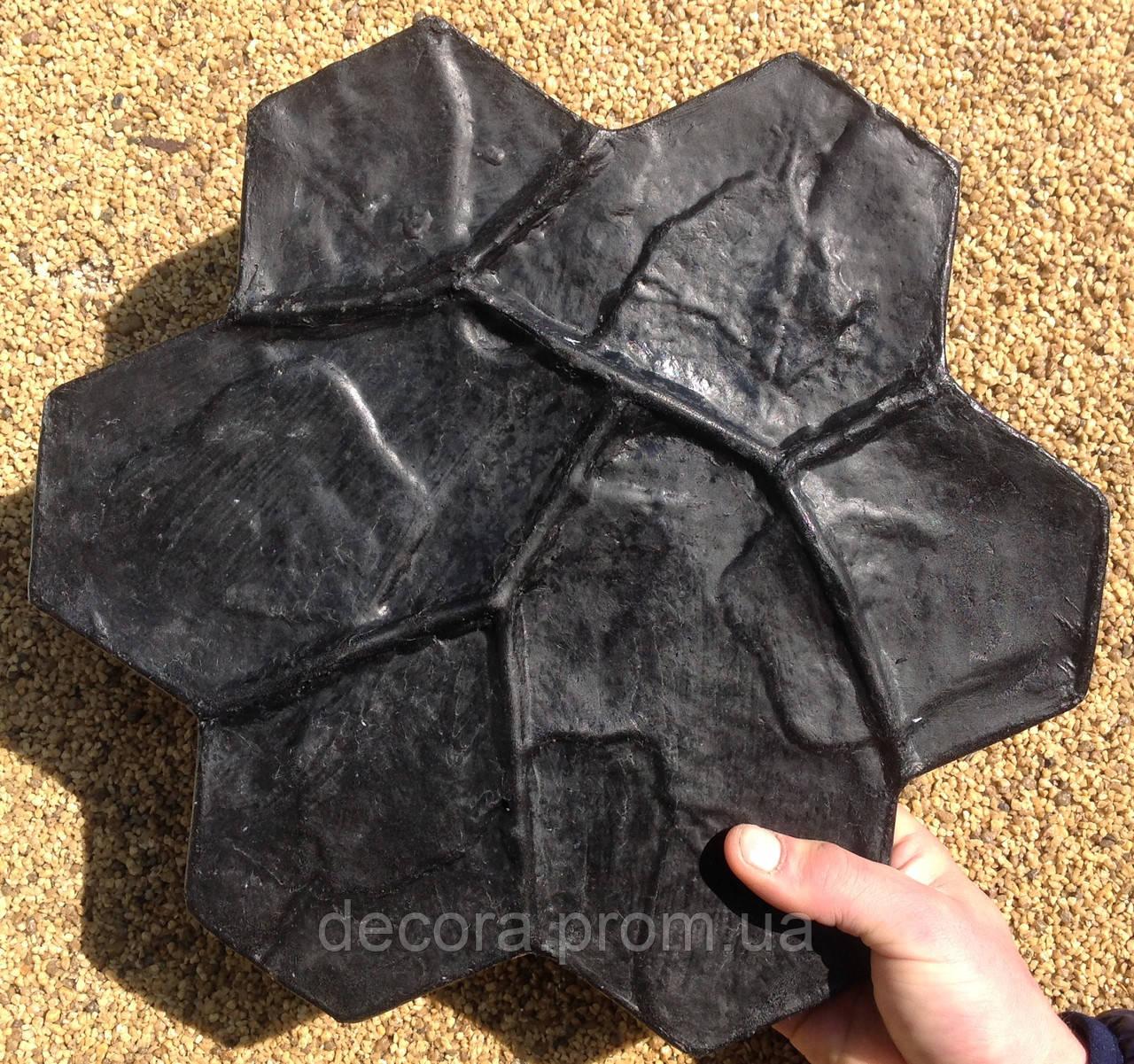 Штамп для штукатурки Каменный цветок малый