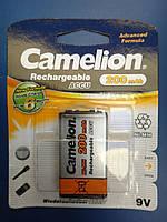 Аккумулятор Крона Camelion 9V 200mAh PP3 Ni-MH RECHARGEABLE New Formula