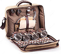 Набор для пикника в чемодане HB4-575, на 4 человека, размер 38х13,5х33 см, вес 4,1 кг