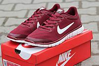 Мужские кроссовки NIKE FREE RUN 3.0, сетка, красные / бег кроссовки мужские Найк Фри Ран 3.0, модные