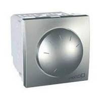 Светорегулятор-диммер поворотный 40-400W 2-модульная Schneider Серия: Unica Цвет: алюминий