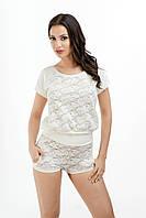 Пижама женская короткая шорты ажурная эротическая Hamana Thelma