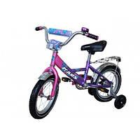 """Велосипед Mars 14"""" Розовый / Фиолетовый (ВК 14"""" р/ф)"""
