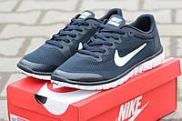 Мужские кроссовки NIKE FREE RUN 3.0, сетка, синие / беговые кроссовки мужские Найк Фри Ран 3.0, легкие