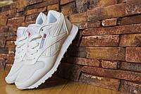 Кроссовки Reebok Classic (белые) кожаные кроссовки Reebok (Рибок)